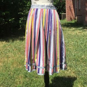 Anthropologie Lux striped circle skirt size 2